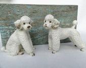 Vintage Pair Standard Poodle Figures, Made in Japan, Lefton, Excellent Condition