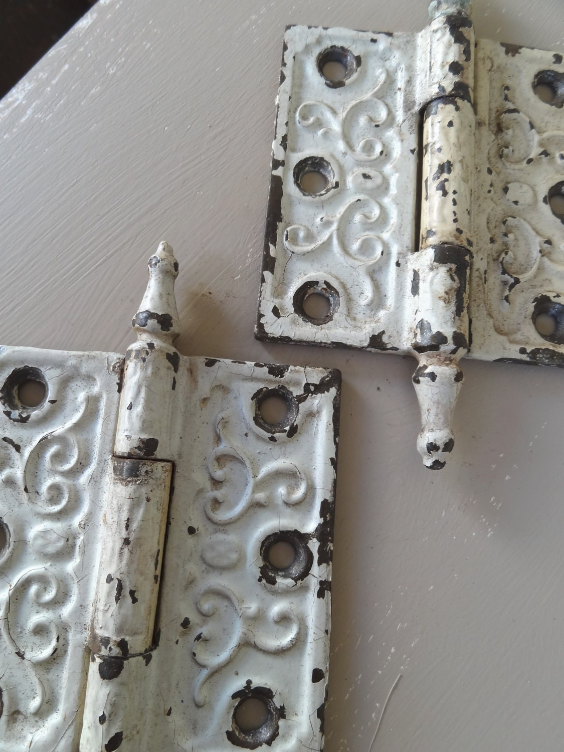 Vintage Antique Door Hinges Hardware Repurpose Art Project