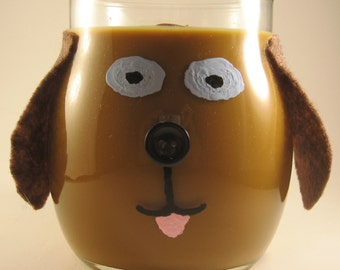 Chocolate Lab Dog and Puppy Candles