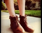 Brown Leather Ankle Boots size 10
