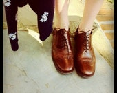 Brown Leather Shortwing Oxfords size 10