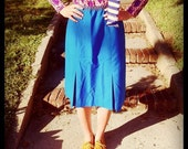 Two Toned Blue Skirt size S