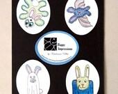 HALLOWEEN for BUNNIES - Sticker Set of 4