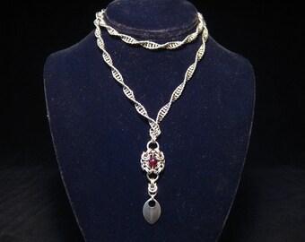 Stailness steel spiral necklace