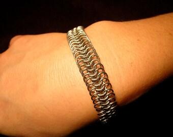 Stainless steel european weave bracelet