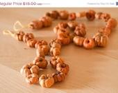 Pumpkin Harvest Garland Miniature Autumn Rustic Farm Home Decor Thanksgiving Table Decoration - 2 feet- LAST ONE