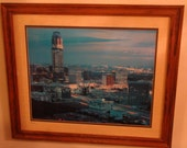 Art / Houston /  Galleria Mall area / Transco Tower / City Scape /  Wall Hanging / Vintage