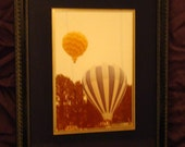 Framed Art / Hot Air Balloons / Vintage Photo