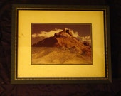 Framed Art / Mountain Landscape  / Vintage