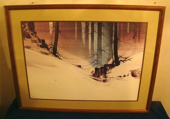 Art / 4 Piece Print Set / Western Art Set / Vintage / FREE SHIPPING