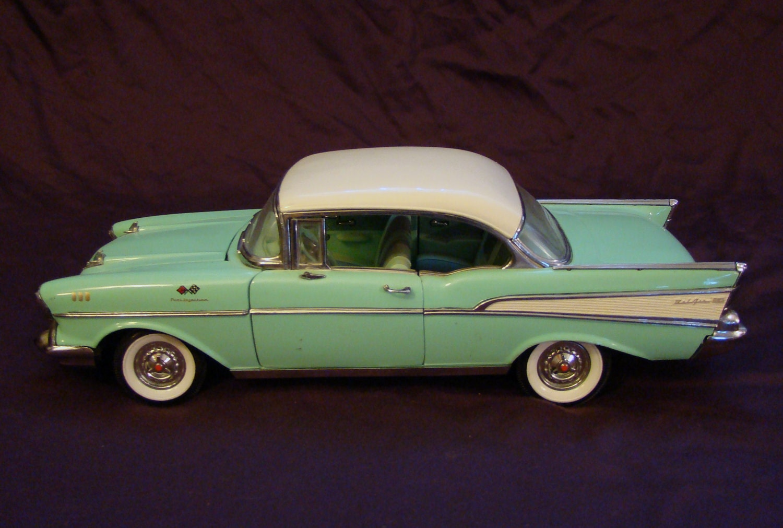 1957 chevy bel air model car vintage sea foam green hard for Vintage küchenm bel