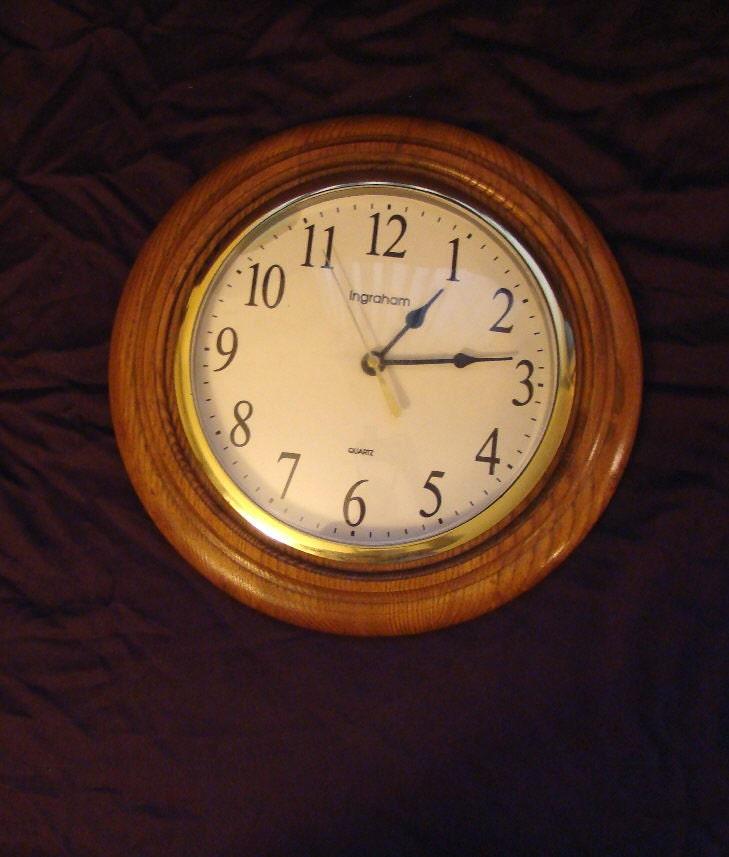 Vintage Wood Clock Ingraham Quartz Wall Clock By