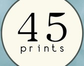 45 PRINTS - SINGLE SIDED Printed Invitations Cards -86440599