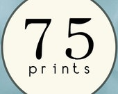 75 PRINTS - SINGLE SIDED Printed Invitations Cards and Envelopes - 86441190