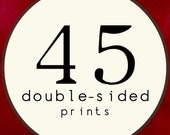 45 PRINTS - DOUBLE SIDED Printed Invitations Cards - 91891794