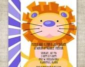 Boy BABY SHOWER Invitations LION Digital diy Printable Personalized - 94543669