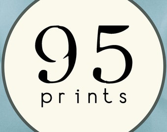 95 PRINTS - SINGLE SIDED Printed Invitations Cards - 91893101
