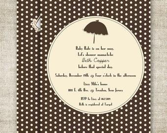 UMBRELLA BABY SHOWER Invitations Digital Printable Personalized  Gender Neutral - 83769251