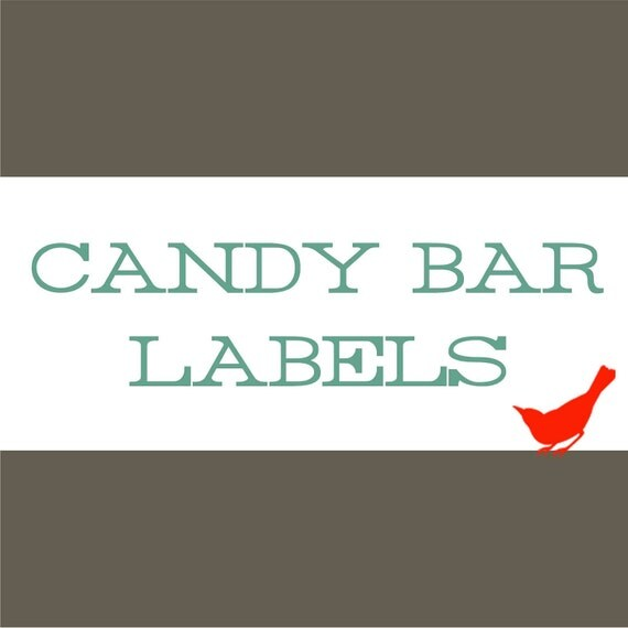 CANDY BAR LABEL Wrapper for Birthday or Baby Shower Invitations - 86089900