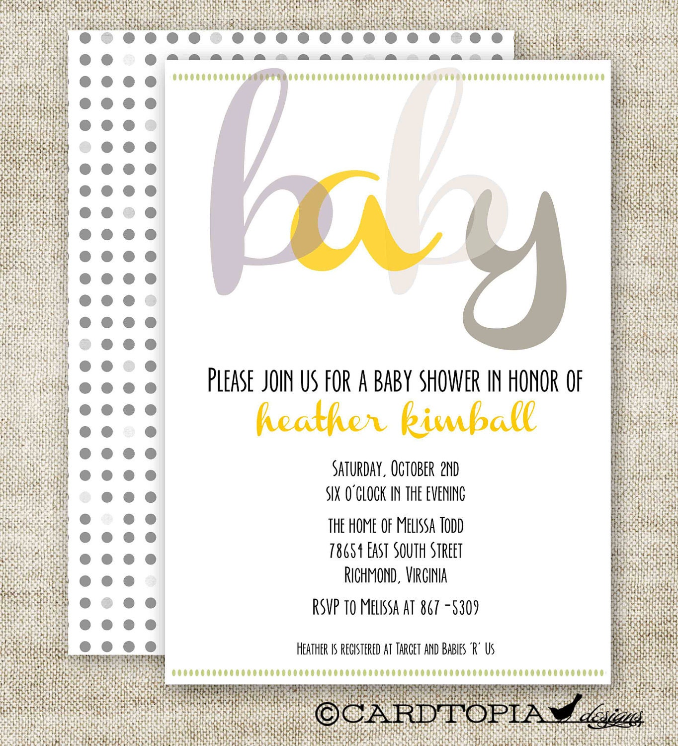 gender reveal party baby shower invitations digital printable