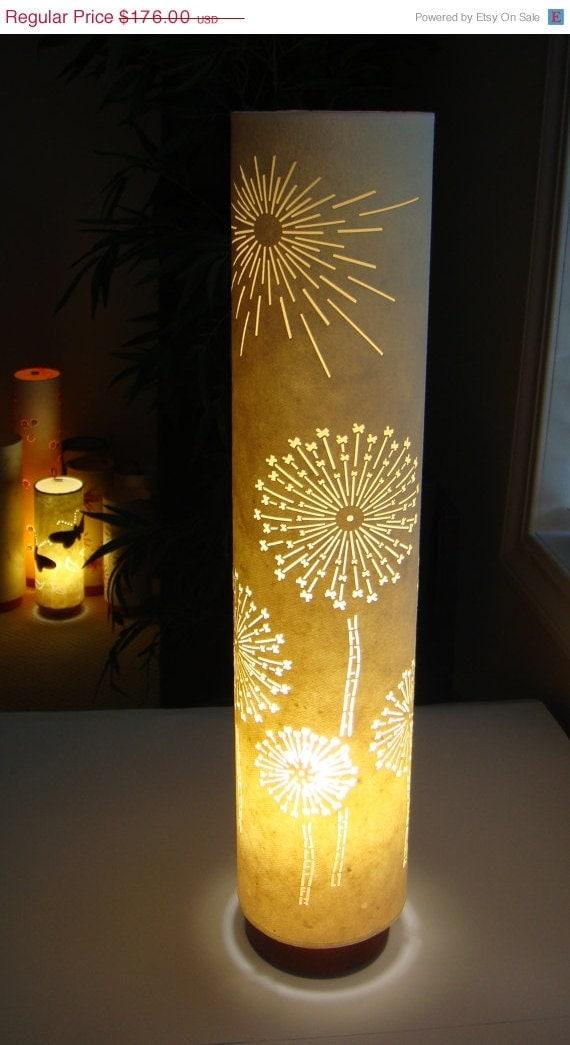 arcasha / Cream dandelion floor lamp - on SALE NOW - CUSTOM design lamphade for an intimate space