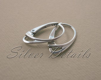 Best Quality Euro Lever-backs Ear Hooks Sterling Silver 925 Bestseller model ES1