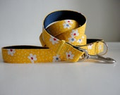 Beautiful Japanese Floral Dog Collar and Leash Set , Size S-XL available FREE SHIPPING