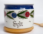 Rorstrand Dalom jam pot with lid - Sylt