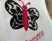 Girls Butterfly Applique Shirt