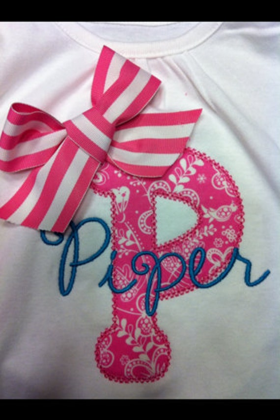 Applique Shirt for Kids (Personalized Name )