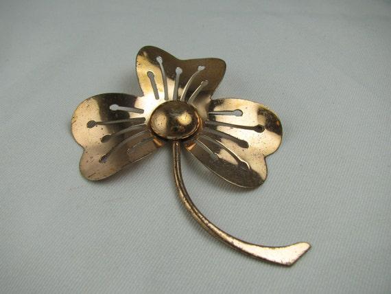 SHAMROCK PIN Rose Gold Plated Sterling