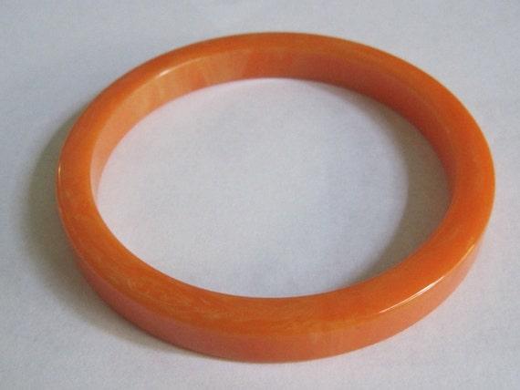 Vintage Genuine Bakelite Orange Creamsicle Bangle Bracelet bakelite jewelry bakelite bracelet costume jewelry orange vintage jewelry