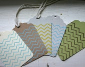 Chevron Design Gift Tags, Set of 25, you choose color combo