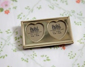 Tiny Vintage Double Opening Heart Picture Frame
