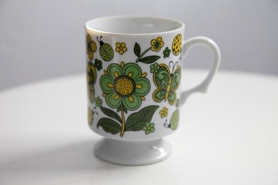 1970s Retro Flower Power Mug