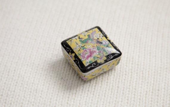 Vintage Peacock Miniature Trinket or Jewelry Box