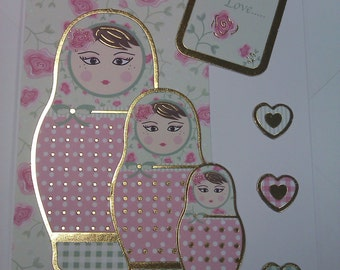 Russian Stacking Dolls card