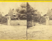 """Stereograph. """"A Summer Residence at Willit's Point, L. I,"""" by unknown photographer for E. & H. T. Anthony. ca. 1865."""