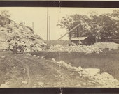 Six views of a rock quarrying operation, by unknown American photographer. ca. 1890.