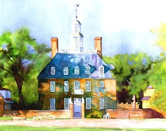 Colonial Williamsburg, Governor's Palace,  11x14 (Mat Size) Print