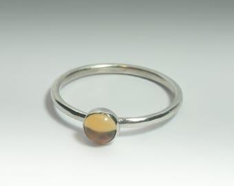 Citrine Ring, Stackable Sterling Silver Citrine Ring, Citrine Stacking Ring, Citrine Jewelry, Natural Citrine, November Birthstone Ring