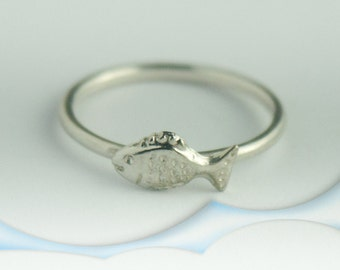 Fish Ring - Sterling Silver Fish Ring