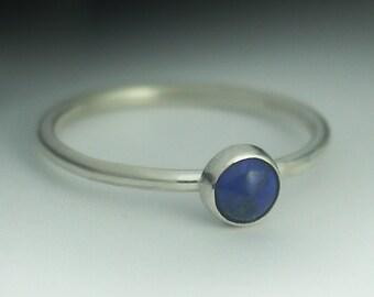 Lapis Lazuli Ring - Stackable Sterling Silver Lapis Lazuli Ring