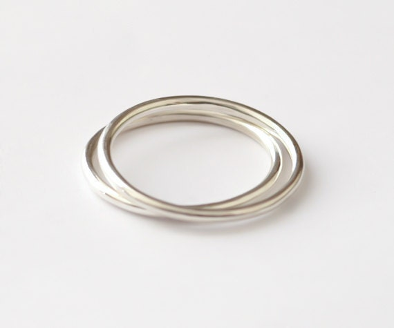 Stackable Sterling Silver Rings -Two rings