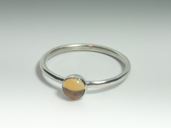 Citrine Ring - Stackable Sterling Silver Citrine Ring