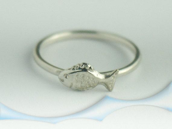 fish ring sterling silver fish ring fish ring fish