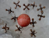 Vintage Jacks (Jax) and a Red Rubber Ball
