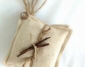 Rustic Natural Sachets , Cedar  Shavings, Twigs, Jute , Favors , (3) Fall Winter  MADE TO ORDER