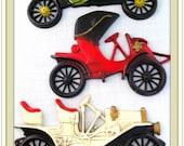 Antique Cars, Vintage Cast Aluminum  Wall Plaques