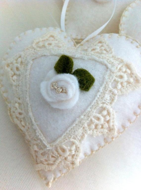Sachets Wedding Favors Hearts Lavender Scented Bridal Baby Shower  Vintage Trim